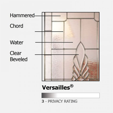 WDMA 36x80 Door (3ft by 6ft8in) Exterior Cherry Pro 80in 1 Panel 3/4 Lite Versailles Door 2