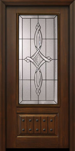 WDMA 36x80 Door (3ft by 6ft8in) Exterior Cherry Pro 80in 1 Panel 3/4 Lite Marsais Door 1