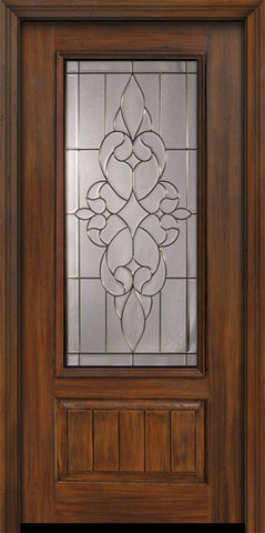 WDMA 36x80 Door (3ft by 6ft8in) Exterior Cherry Pro 80in 1 Panel 3/4 Lite Courtlandt Door 1