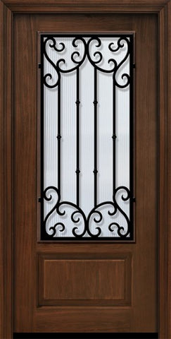 WDMA 36x80 Door (3ft by 6ft8in) Exterior Cherry Pro 80in 1 Panel 3/4 Lite Valencia Door 1