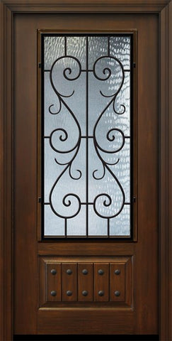 WDMA 36x80 Door (3ft by 6ft8in) Exterior Cherry Pro 80in 1 Panel 3/4 Lite St. Charles Door 1