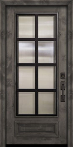 WDMA 36x80 Door (3ft by 6ft8in) Exterior Knotty Alder 36in x 80in 3/4 Lite Minimal Steel Grille Estancia Alder Door 2