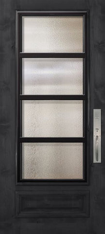 WDMA 36x80 Door (3ft by 6ft8in) Exterior Knotty Alder 36in x 80in 3/4 Lite Urban Steel Grille Estancia Alder Door 1