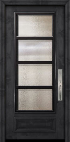WDMA 36x80 Door (3ft by 6ft8in) Exterior Knotty Alder 36in x 80in 3/4 Lite Urban Steel Grille Estancia Alder Door 2