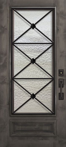WDMA 36x80 Door (3ft by 6ft8in) Exterior Knotty Alder 36in x 80in 3/4 Lite Republic Estancia Alder Door 1