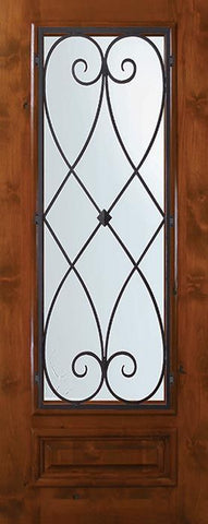 WDMA 36x80 Door (3ft by 6ft8in) Exterior Knotty Alder 36in x 80in 3/4 Lite Charleston Alder Door 1