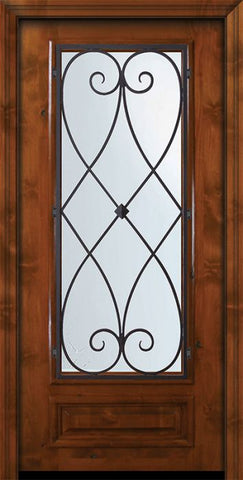 WDMA 36x80 Door (3ft by 6ft8in) Exterior Knotty Alder 36in x 80in 3/4 Lite Charleston Alder Door 2