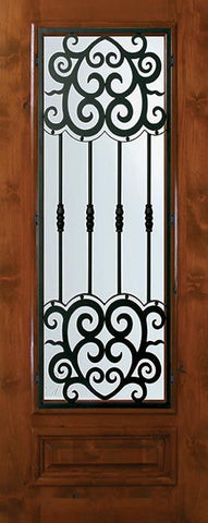 WDMA 36x80 Door (3ft by 6ft8in) Exterior Knotty Alder 36in x 80in 3/4 Lite Barcelona Alder Door 1