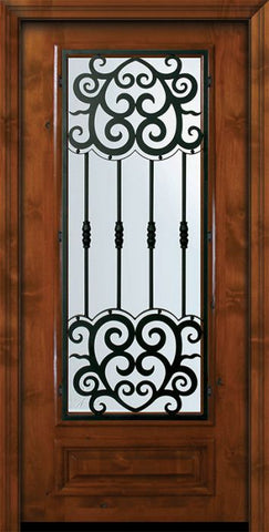 WDMA 36x80 Door (3ft by 6ft8in) Exterior Knotty Alder 36in x 80in 3/4 Lite Barcelona Alder Door 2