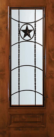 WDMA 36x80 Door (3ft by 6ft8in) Exterior Knotty Alder 36in x 80in 3/4 Lite Texan Alder Door 1