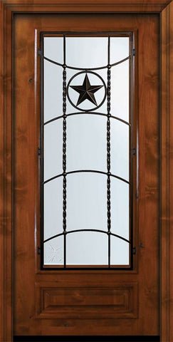 WDMA 36x80 Door (3ft by 6ft8in) Exterior Knotty Alder 36in x 80in 3/4 Lite Texan Alder Door 2