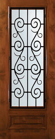 WDMA 36x80 Door (3ft by 6ft8in) Exterior Knotty Alder 36in x 80in 3/4 Lite St. Charles Alder Door 1