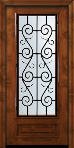 WDMA 36x80 Door (3ft by 6ft8in) Exterior Knotty Alder 36in x 80in 3/4 Lite St. Charles Alder Door 2