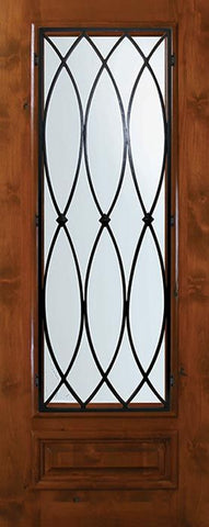 WDMA 36x80 Door (3ft by 6ft8in) Exterior Knotty Alder 36in x 80in 3/4 Lite La Salle Alder Door 1