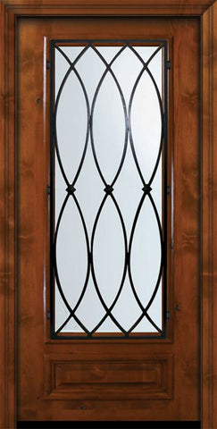 WDMA 36x80 Door (3ft by 6ft8in) Exterior Knotty Alder 36in x 80in 3/4 Lite La Salle Alder Door 2