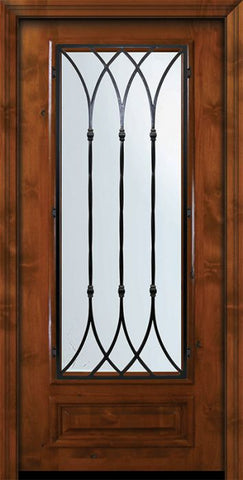 WDMA 36x80 Door (3ft by 6ft8in) Exterior Knotty Alder 36in x 80in 3/4 Lite Warwick Alder Door 2