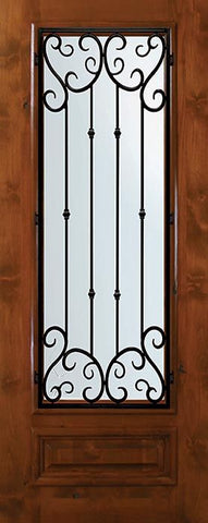 WDMA 36x80 Door (3ft by 6ft8in) Exterior Knotty Alder 36in x 80in 3/4 Lite Valencia Alder Door 1