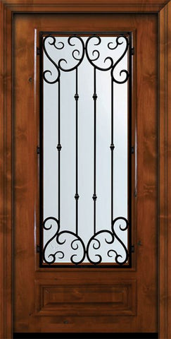 WDMA 36x80 Door (3ft by 6ft8in) Exterior Knotty Alder 36in x 80in 3/4 Lite Valencia Alder Door 2