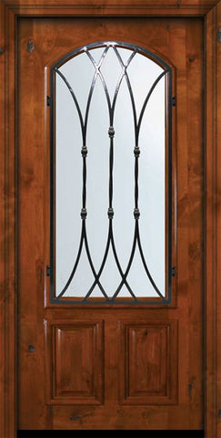 WDMA 36x80 Door (3ft by 6ft8in) Exterior Knotty Alder 36in x 80in Arch Lite Warwick Alder Door 2