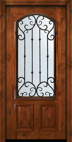 WDMA 36x80 Door (3ft by 6ft8in) Exterior Knotty Alder 36in x 80in Arch Lite Valencia Alder Door 2