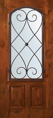 WDMA 36x80 Door (3ft by 6ft8in) Exterior Knotty Alder 36in x 80in Arch Lite Charleston Alder Door 1