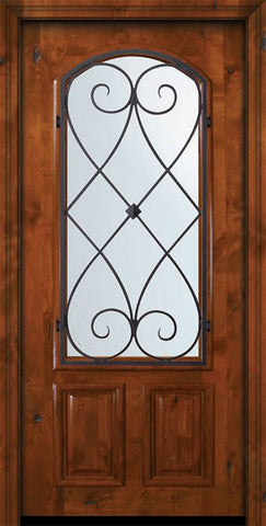 WDMA 36x80 Door (3ft by 6ft8in) Exterior Knotty Alder 36in x 80in Arch Lite Charleston Alder Door 2