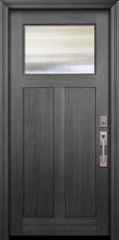 WDMA 36x80 Door (3ft by 6ft8in) Exterior Fir 36in x 80in Craftsman 1 Lite Door 1