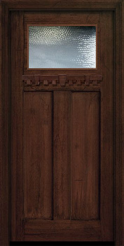 WDMA 36x80 Door (3ft by 6ft8in) Exterior Mahogany 36in x 80in Craftsman 1 Lite Door 1