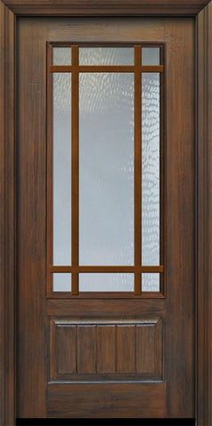 WDMA 36x80 Door (3ft by 6ft8in) French Cherry Pro 80in 9 Lite Craftsman SDL 3/4 Lite Door 1