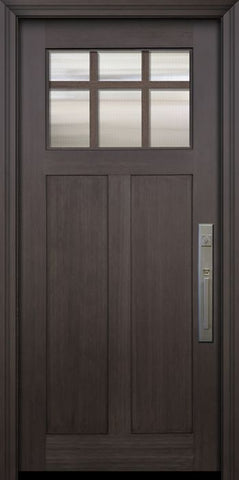 WDMA 36x80 Door (3ft by 6ft8in) Exterior Fir 36in x 80in Craftsman 6 Lite Marginal SDL Door 1