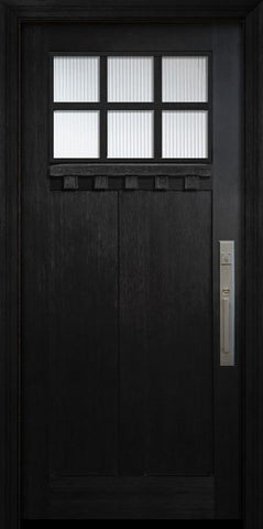 WDMA 36x80 Door (3ft by 6ft8in) Exterior Fir 36in x 80in Craftsman 6 Lite SDL Door 1