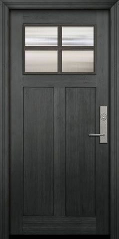 WDMA 36x80 Door (3ft by 6ft8in) Exterior Fir 36in x 80in Craftsman 4 Lite SDL Door 1