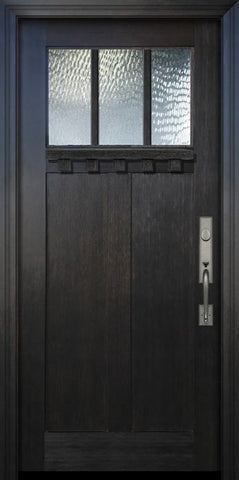 WDMA 36x80 Door (3ft by 6ft8in) Exterior Fir 36in x 80in Craftsman 3 Lite SDL Door 1
