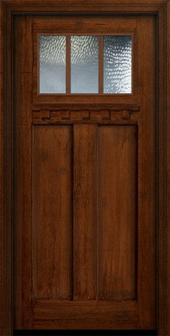 WDMA 36x80 Door (3ft by 6ft8in) Exterior Mahogany 36in x 80in Craftsman 3 Lite SDL Divided Lite Door 1