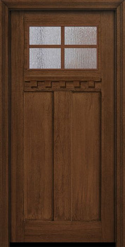 WDMA 36x80 Door (3ft by 6ft8in) Exterior Mahogany 36in x 80in Craftsman 4 Lite SDL Divided Lite Door 1