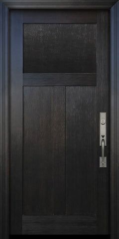 WDMA 36x80 Door (3ft by 6ft8in) Exterior Fir 80in Craftsman 3 Panel Door 1