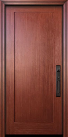 WDMA 36x80 Door (3ft by 6ft8in) Exterior Fir 80in Shaker 1 Panel Door 1