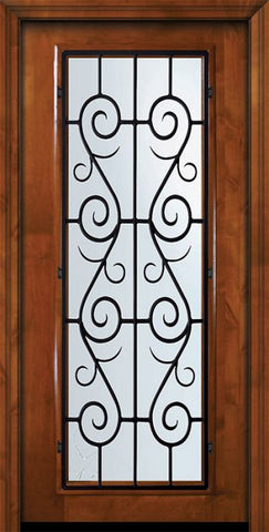 WDMA 36x80 Door (3ft by 6ft8in) Exterior Knotty Alder 36in x 80in Full Lite St. Charles Alder Door 2