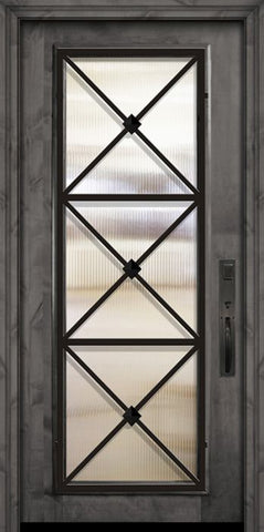 WDMA 36x80 Door (3ft by 6ft8in) Exterior Knotty Alder 36in x 80in Full Lite Republic Estancia Alder Door 2