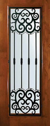 WDMA 36x80 Door (3ft by 6ft8in) Exterior Knotty Alder 36in x 80in Full Lite Barcelona Alder Door 1
