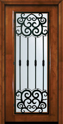 WDMA 36x80 Door (3ft by 6ft8in) Exterior Knotty Alder 36in x 80in Full Lite Barcelona Alder Door 2
