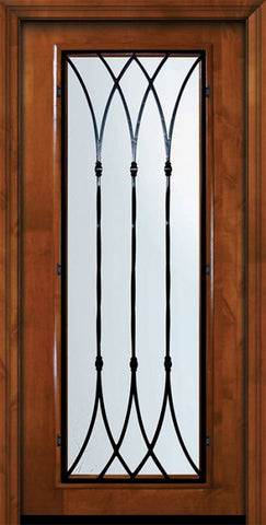 WDMA 36x80 Door (3ft by 6ft8in) Exterior Knotty Alder 36in x 80in Full Lite Warwick Alder Door 2