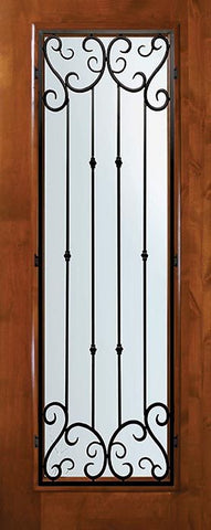 WDMA 36x80 Door (3ft by 6ft8in) Exterior Knotty Alder 36in x 80in Full Lite Valencia Alder Door 1