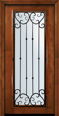 WDMA 36x80 Door (3ft by 6ft8in) Exterior Knotty Alder 36in x 80in Full Lite Valencia Alder Door 2