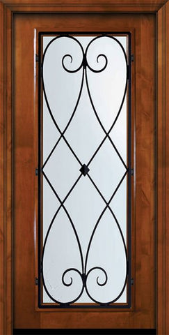 WDMA 36x80 Door (3ft by 6ft8in) Exterior Knotty Alder 36in x 80in Full Lite Charleston Alder Door 2