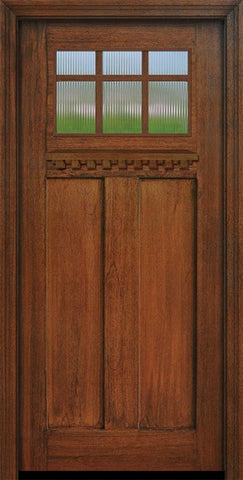 WDMA 36x80 Door (3ft by 6ft8in) Exterior Mahogany 36in x 80in Craftsman 6 Lite Marginal SDL Divided Lite Door 1