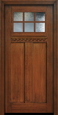 WDMA 36x80 Door (3ft by 6ft8in) Exterior Mahogany 36in x 80in Craftsman 6 Lite SDL Divided Lite Door 1
