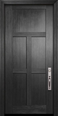 WDMA 36x80 Door (3ft by 6ft8in) Exterior Fir 80in Craftsman 5 Panel Door 1