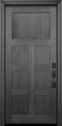 WDMA 36x80 Door (3ft by 6ft8in) Exterior Fir 80in Craftsman 7 Panel Door 1