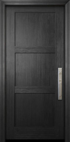 WDMA 36x80 Door (3ft by 6ft8in) Exterior Fir 80in Shaker 3 Panel Door 1